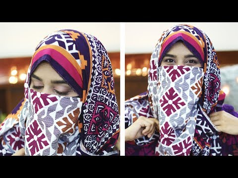 Niqab Ka Tarika Using Lawn Dupatta With Salwar Kameez |Full Coverage For Summers Without Inner Cap