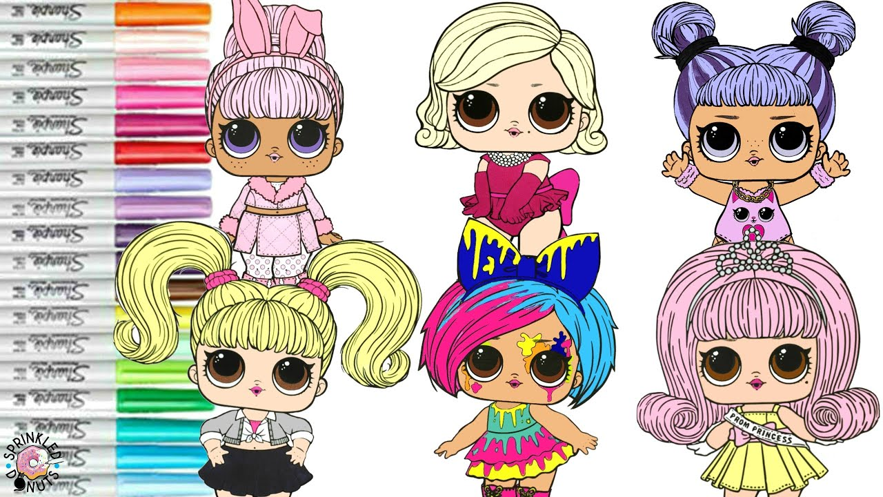LOL Surprise Dolls Coloring Book Compilation Hairgoals ...