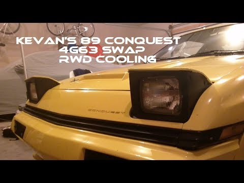 89 Chrysler Conquest 4g63 RWD Coolant Lines