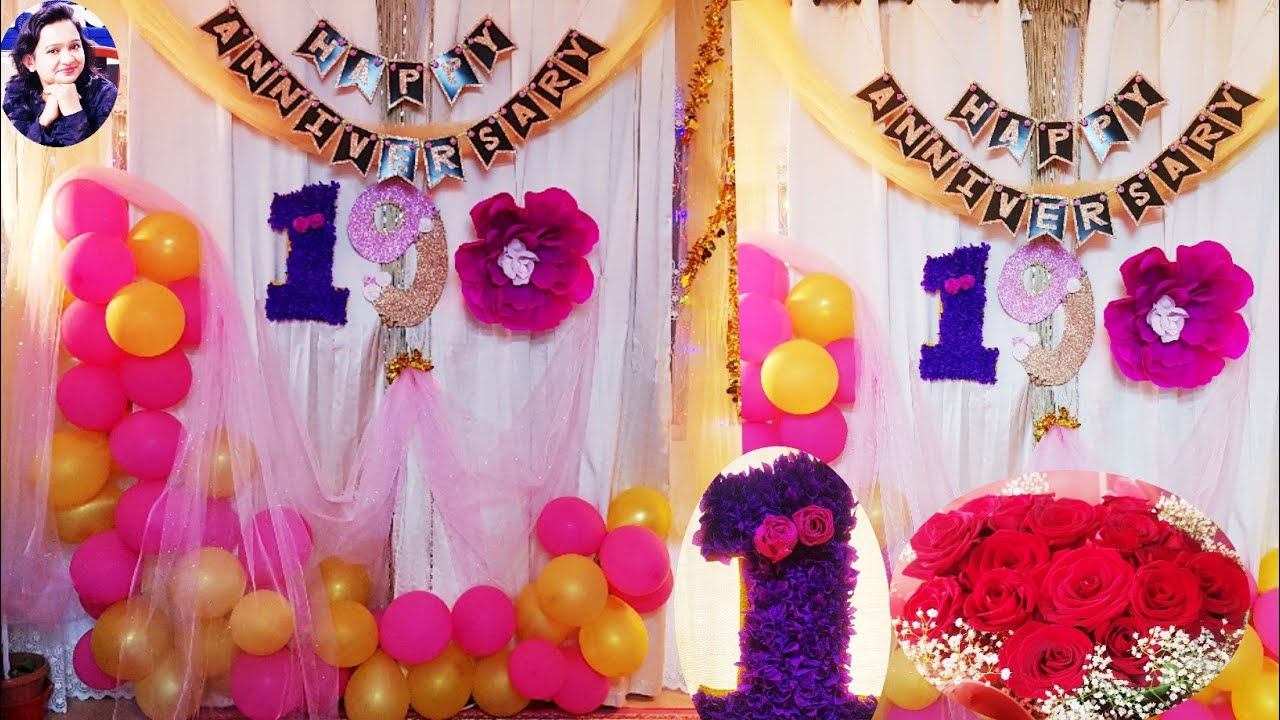 Easy Anniversary Decoration Ideas At Home Diy Simple Anniversary Decorations Anita Rajeev Kumar Diy Latest