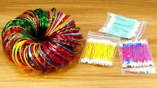 Best craft with cotton buds & Old bangles | DIY arts and crafts |
