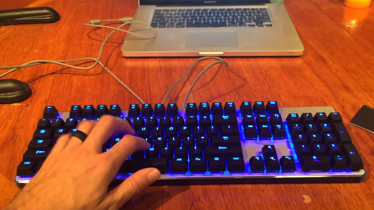 Havit blue led backlit wired mechanical gaming keyboard with blue switches amazon youtube