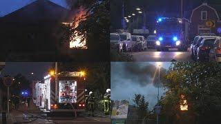 [Middelbrand] Uitslaande brand in leegstaande woning Sint Josephstraat Dongen