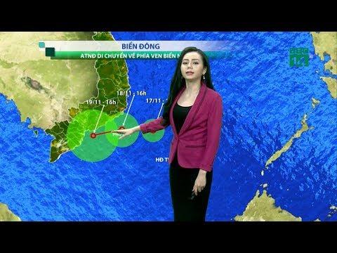 Thời Tiết Tổng Hợp 19h 17/11/2018: Áp Thấp đã Mạnh Lên Áp Thấp Nhiệt đới Trên Biển Đông | VTC14