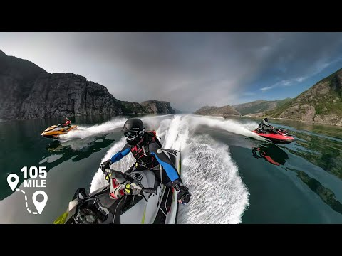 105 mile jet ski trip / Lysefjord / Norway