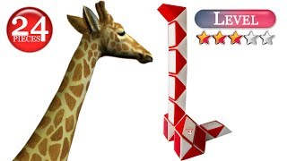 Rubik's snake Giraffe 24 piece. Snake puzzle shapes Animals. Rubik snake twist pattern. Toy ide