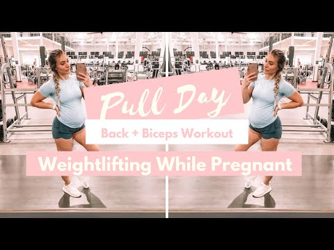 Back and Biceps Workout || Weightlifting While Pregnant