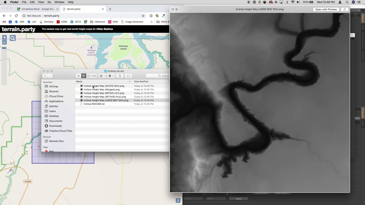 Loading Google Earth/Maps Data into Cinema4D (or other 3D program) 1/3