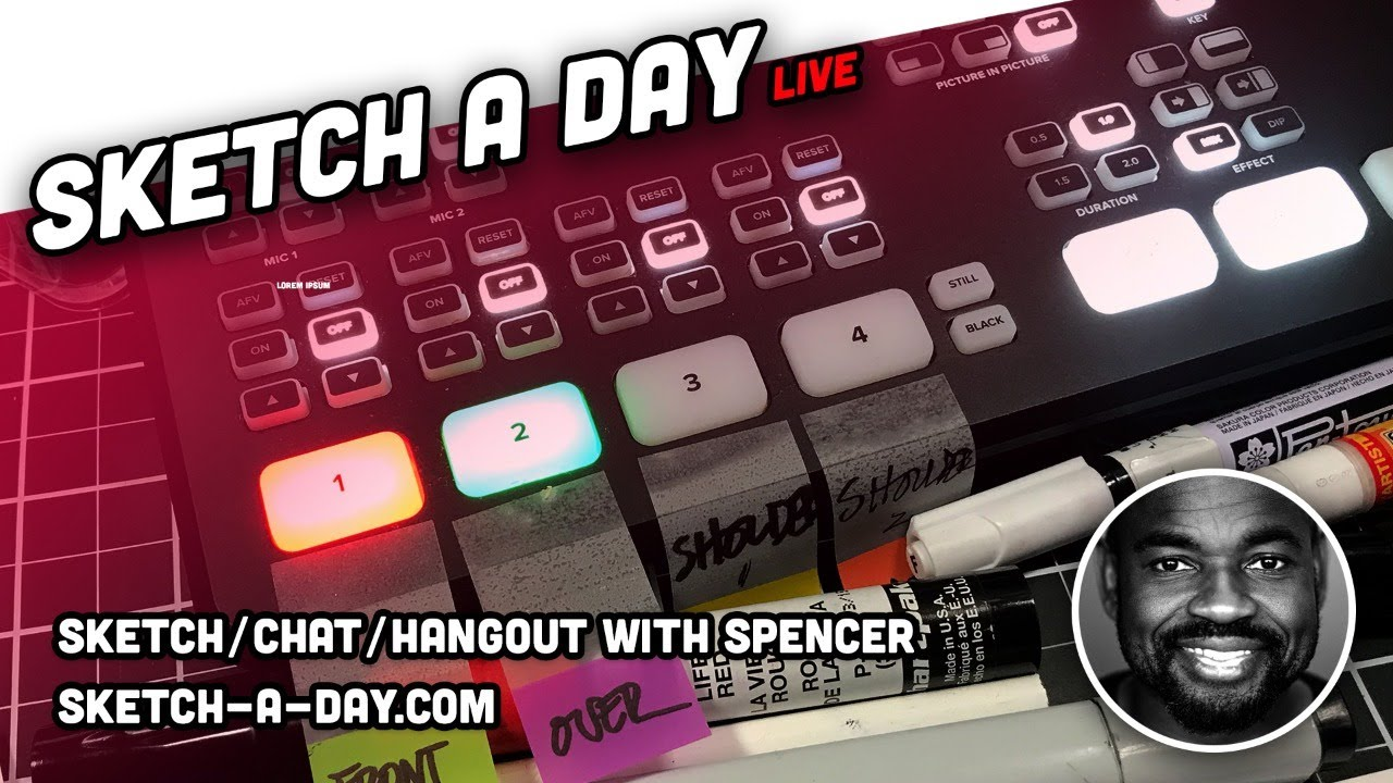 Tuesday July 7 - LIVE: Industrial Design Sketching by Sketch A Day