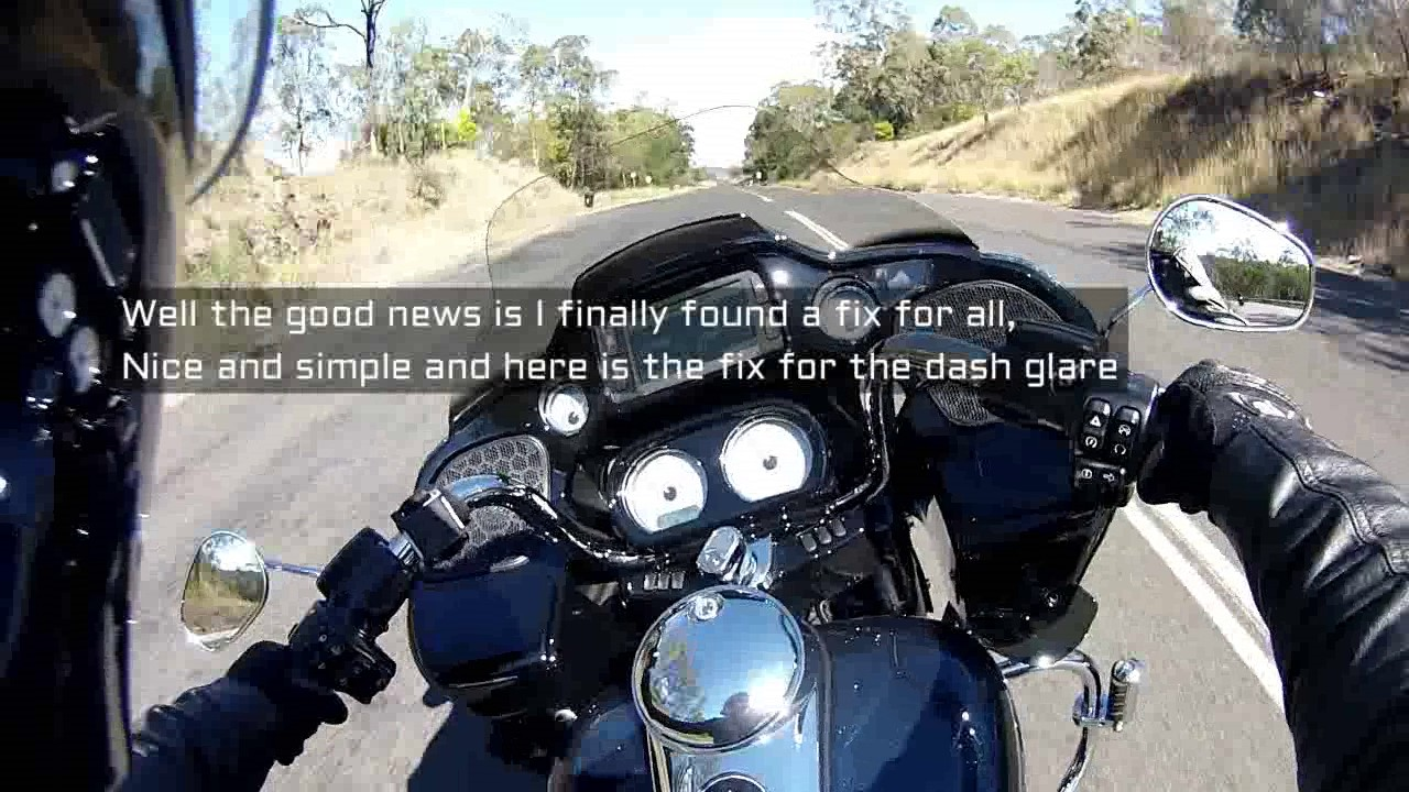 Harley Road Glide Dash Glare FIX AT END