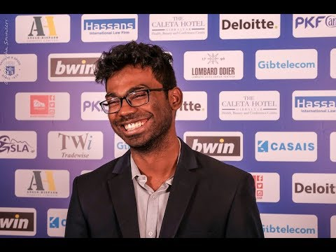 Round 8 Gibraltar Chess post-game interview with Sethuraman