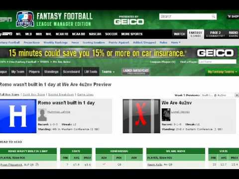 Friday Fantasy Football Forum (FFFF) Week 5