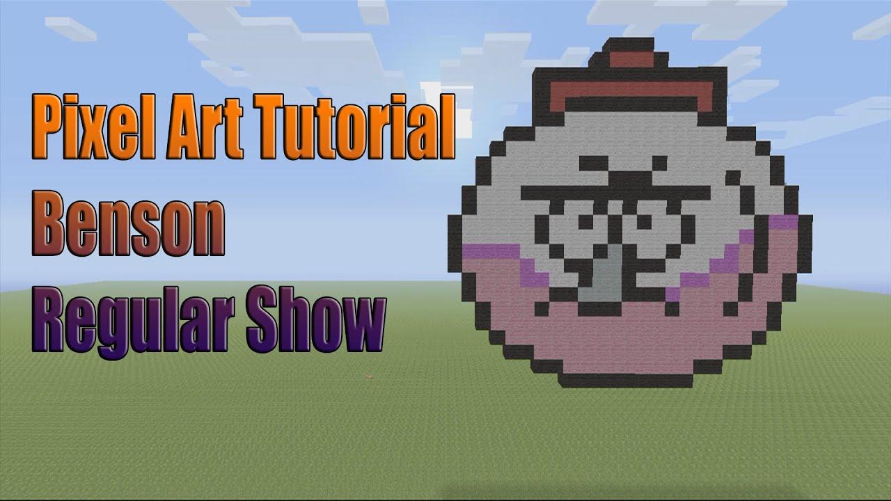 Minecraft Pixel Art Tutorial: How to make Benson (Regular ...  Minecraft