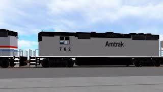 ROBLOX Railfanning: AMTK Hopper Car (Fast)