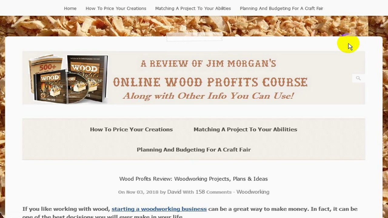 Wood Profits Online Woodworking Business Opportunities Youtube