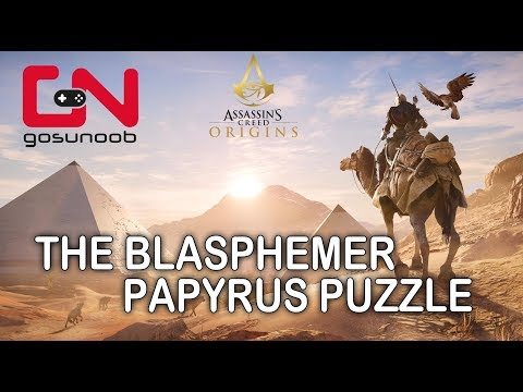 Assassin's Creed Origins The Blasphemer Papyrus Puzzle