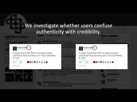 Does Being Verified Make You More Credible?