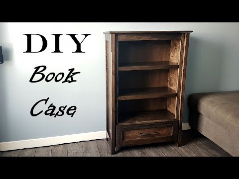 How To Book Case W/drawer, Bookshelf Cabinet