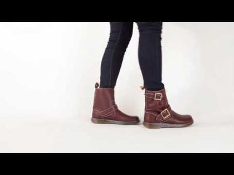 Dr. Martens Gayle Low Biker Boot - YouTube