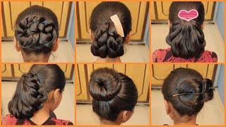 Anjali's Bun Hairstyles Part 16 | 6 Very Easy, Quick u0026 Beautiful Bun Hairstyles | Hairstyle Tutorial