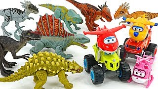 Dinosaur appeared in zoo! Super Wings, Blaze & The Monster Machines! Go! #DuDuPopTOY
