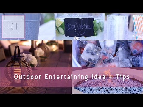 Outdoor Entertaining Tips + Ideas | Rachel Talbott