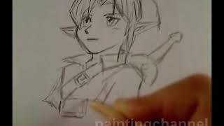 How to draw Link - Ocarina of Time Manga