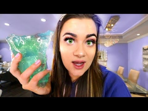 Pranking People with my COLORED CONTACTS!