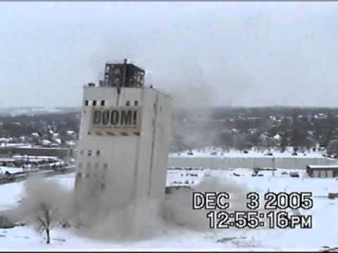 Zip Feed Mill Sioux Falls - Failed Implosion Aerial View