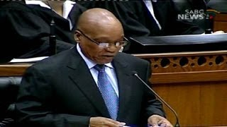 President Jacob Zuma responds to debates around the SONA.