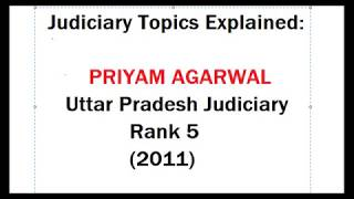Interview of Judciary exam topper- Priyam Agarwal