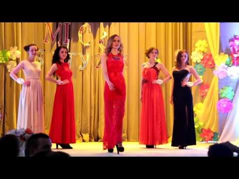 видео: Мисс БГТУ 2016 - Дефиле в вечерних платьях