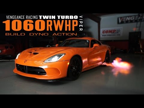 1060RWHP 2015 VIPER TA - TWIN TURBO - BUILD DYNO ACTION