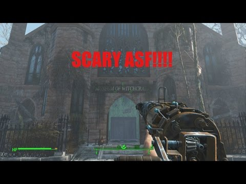 FALLOUT 4 museum of witchcraft scary with funny reactions