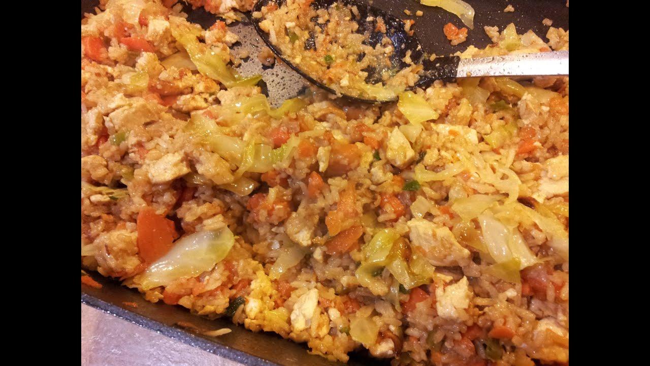 How to make vegan tofu fried rice youtube how to make vegan tofu fried rice ccuart Choice Image