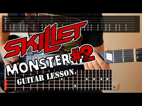Skillet - Monster (guitar lesson with lyrics)