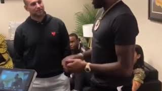 Meek Mill filming with Michael Rubin for Amazon Documentary!!