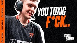YOU TOXIC F*CK! | Fnatic Voice Comms - LEC Spring W3