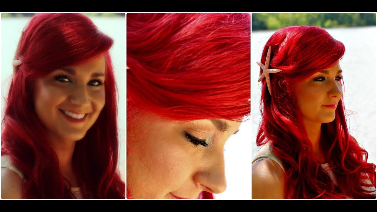 little mermaid hair tutorial