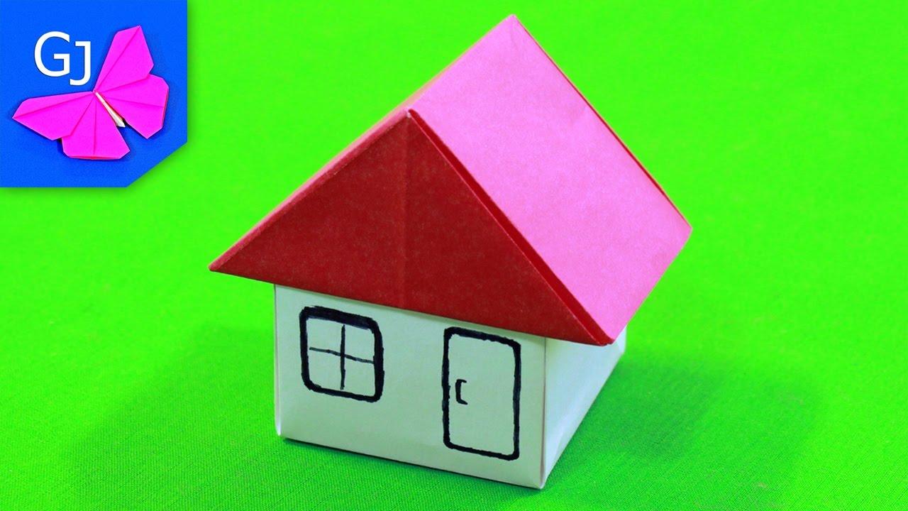 Оригами Домик из бумаги ❀ Мебель для кукол своими руками