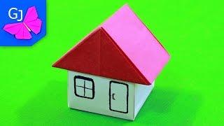 как из картона сделать домик маленький
