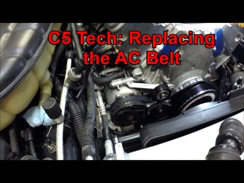 c5 tech replacing the ac belt  2006 pontiac gto belt diagram wiring