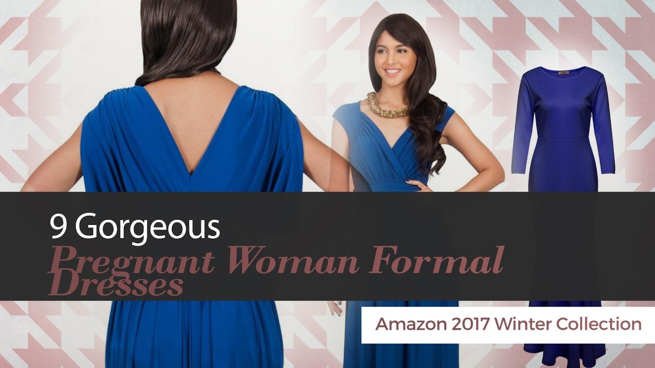 9 Gorgeous Pregnant Woman Formal Dresses Amazon 2017 Winter