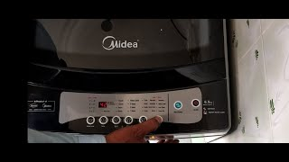 DEMO of Midea 6.5 kg Fully Automatic Top Load Washing Machine MWMTL065ZOF