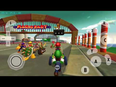 Play Game Mario Kart Double Dash!! Grand Prix Flower Cup | Dolphin MMJ Emulator Android