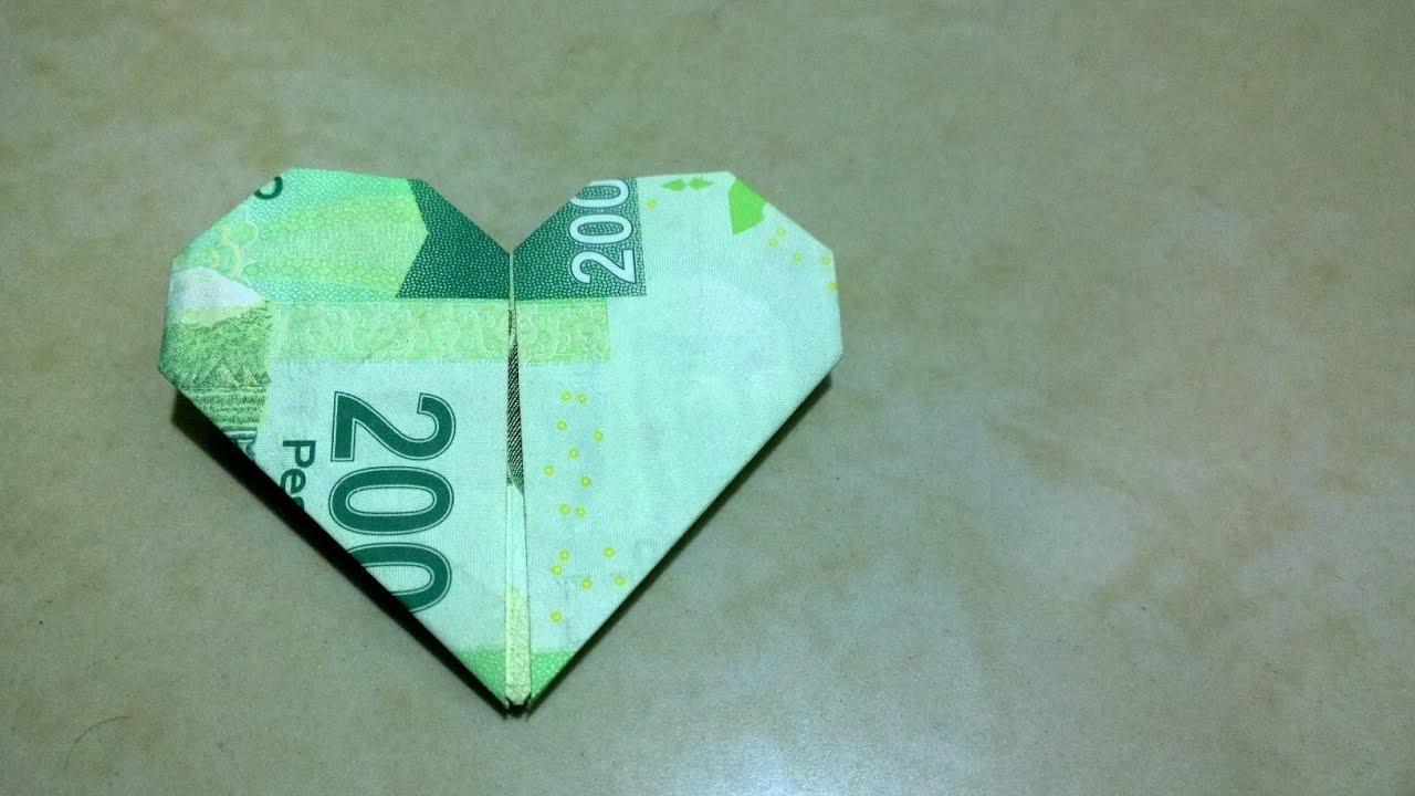 Billete en forma de corazón para regalar ( Manualidades, Origami ...
