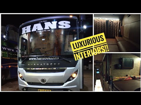 HANS TRAVELS GLIDERZ AC SLEEPER INTERIOR +EXTERIOR REVIEW!! PUNE TO GWALIOR DAILY SERVICE #KRB2002