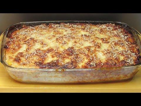 Вкусный Ужин одной левой. Выпуск 1 - Мясная запеканка с рисом. Meat Pie With Rice.