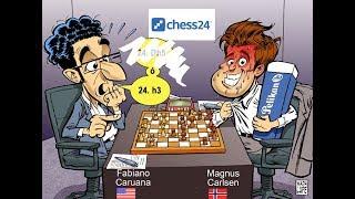 Caruana - Carlsen (Resumen Partida 8); Campeonato del Mundo de Ajedrez 2018