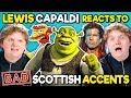 Lewis Capaldi Reacts To BAD Scottish Accents In TV And Movies Shrek, The Simpsons, Star Trek